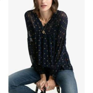 LUCKY BRAND Womens Babydoll Peasant Top, Blouse